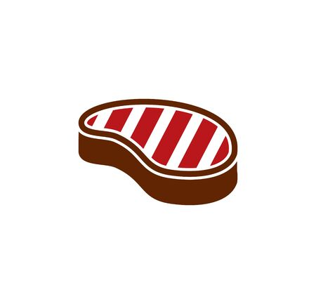 Steak related icons set on background for graphic and web design. Simple illustration. Internet concept symbol for website button or mobile app Ilustracja
