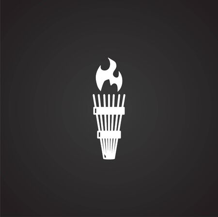 Torch icon on background for graphic and web design. Simple illustration. Internet concept symbol for website button or mobile app Banco de Imagens - 142869461