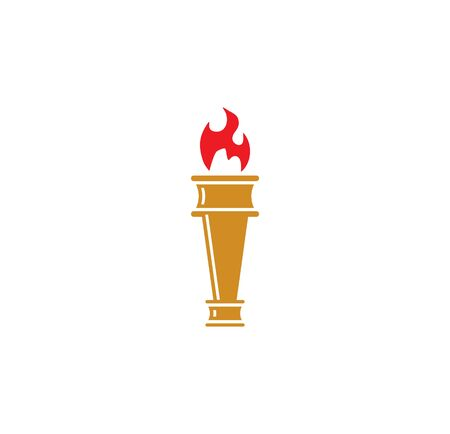 Torch icon on background for graphic and web design. Simple illustration. Internet concept symbol for website button or mobile app Banco de Imagens - 143077181