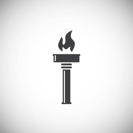 Torch icon on background for graphic and web design. Simple illustration. Internet concept symbol for website button or mobile app Banco de Imagens - 142881356