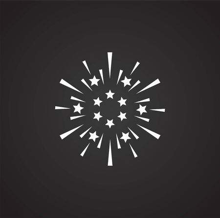 Sparkle icon on background for graphic and web design. Simple illustration. Internet concept symbol for website button or mobile app 向量圖像