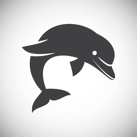 Dolphin icon on background for graphic and web design. Simple illustration. Internet concept symbol for website button or mobile app