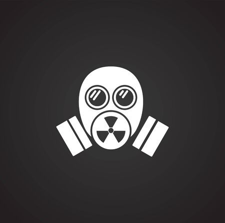 Radiation related icon on background for graphic and web design. Simple illustration. Internet concept symbol for website button or mobile app