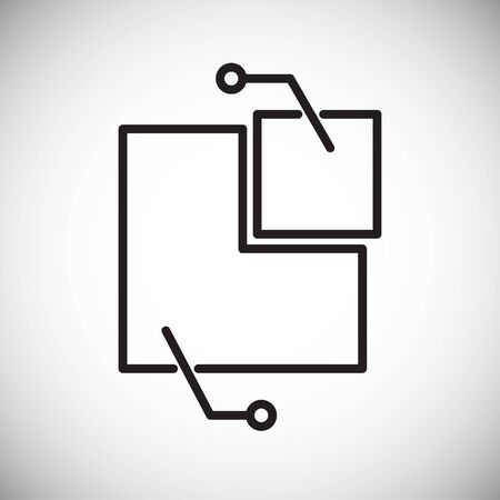 Graph line icon on background for graphic and web design. Simple vector sign. Internet concept symbol for website button or mobile app  イラスト・ベクター素材