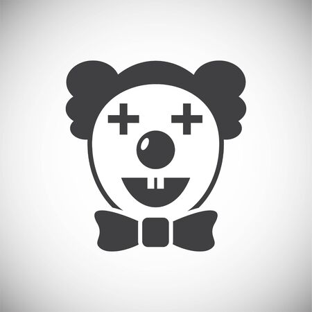 Circus related icon on background for graphic and web design. Simple illustration. Internet concept symbol for website button or mobile app  イラスト・ベクター素材