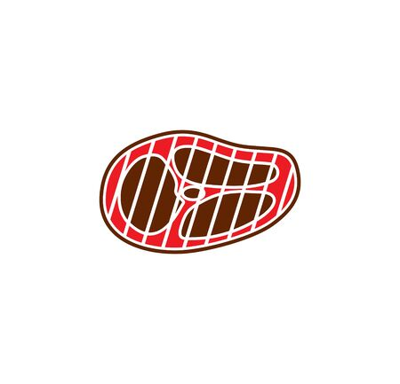 Steak related icons set on background for graphic and web design. Simple illustration. Internet concept symbol for website button or mobile app Иллюстрация