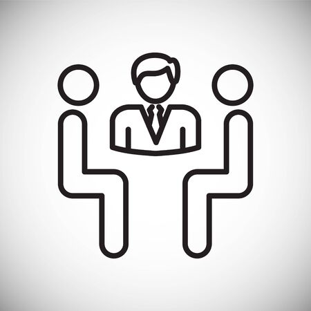 Person icon on background for graphic and web design. Simple vector sign. Internet concept symbol for website button or mobile app