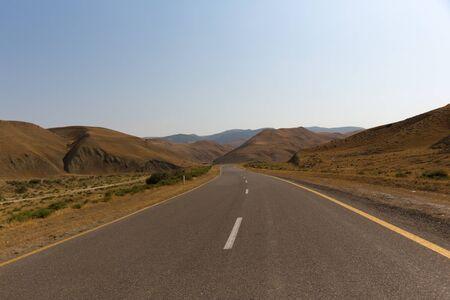Road to the mountains. Xizi, Azerbaijan, road to the mountains.