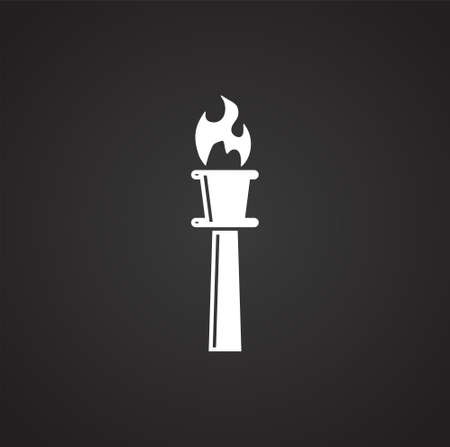 Torch icon on background for graphic and web design. Simple illustration. Internet concept symbol for website button or mobile app