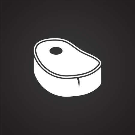 Steak related icons set on background for graphic and web design. Simple illustration. Internet concept symbol for website button or mobile app Ilustração