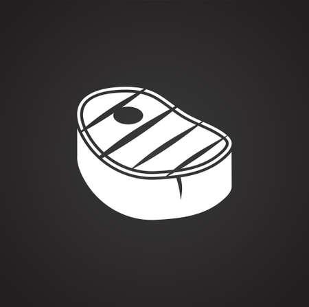 Steak related icons set on background for graphic and web design. Simple illustration. Internet concept symbol for website button or mobile app Banco de Imagens - 150726917