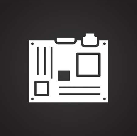 Computer hardware icon on background for graphic and web design. Simple illustration. Internet concept symbol for website button or mobile app  イラスト・ベクター素材