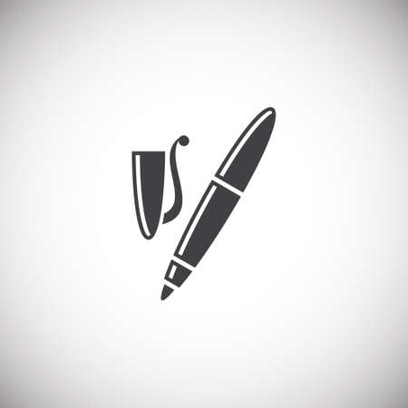 Pen icon on background for graphic and web design. Simple illustration. Internet concept symbol for website button or mobile app  イラスト・ベクター素材