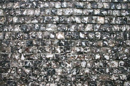 flint: Full-frame texture shot of a traditional flint wall as commonly found throughout Europe
