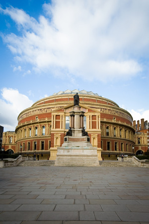 music venue: The iconic architecture of the Royal Albert Hall in Kensington, West London   The music venue is home to the popular Proms series of concerts