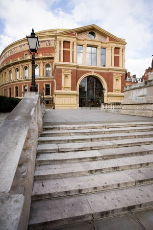The iconic architecture of the Royal Albert Hall in Kensington, West London   The music venue is home to the popular Proms series of concerts