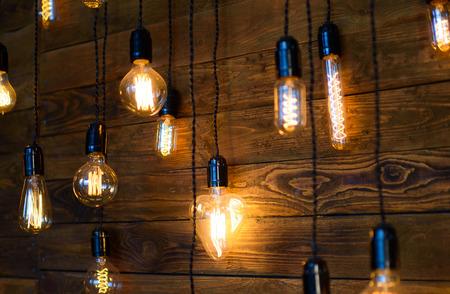 Antique filament light bulbs, Edison light bulbs