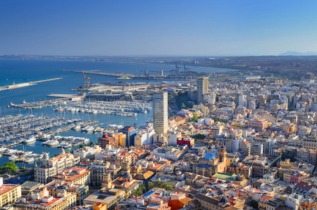 Spain. Sunny day in the city of alicante Stock Photo