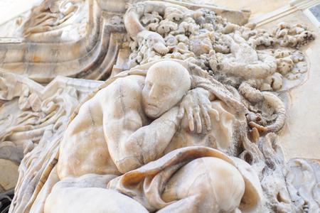 Spain, an ancient bas-relief Valencia