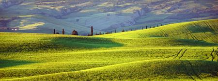 Tuscany, evening sun Stock Photo