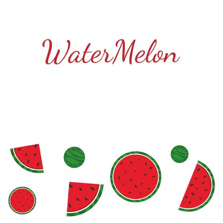 Drawing watermelon on a white background