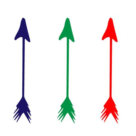 colorful arrows on a white background, doodle