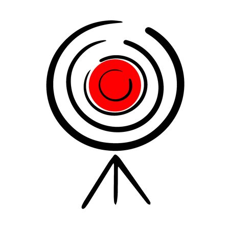 target for shooting, doodle on white background