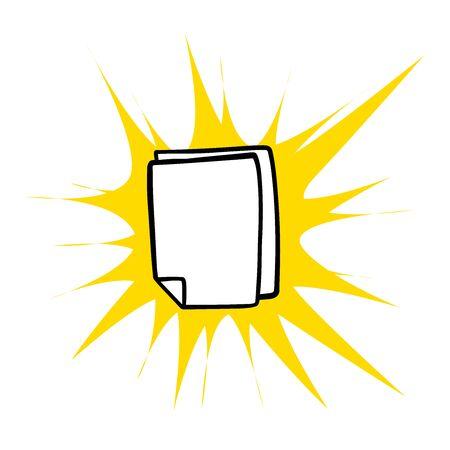 doodle sketch blank sheets on white background Иллюстрация