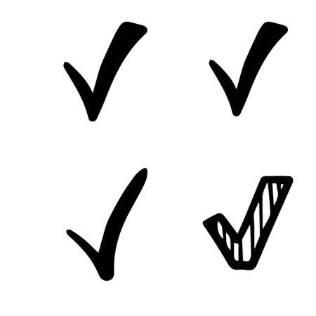 Checkmark icons set on White background Stock Illustratie