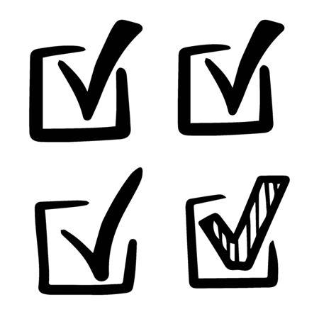 Checkmark icons set