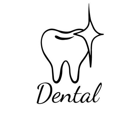 Doodle sketch teeth on a white background, cartoon drawing dental Illustration