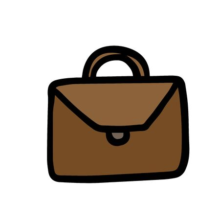 Briefcase, vector isolated on white background doodle Stock Illustratie