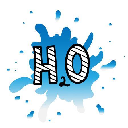 doodle sketch water formula icon