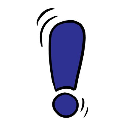 exclamation mark doodle vector illustration