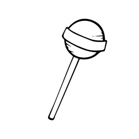 lollipop doodle sketch on a white background Ilustracja