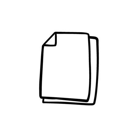 doodle sketch blank sheets on white background Ilustrace