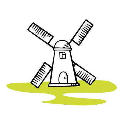 icon mill, doodle sketch on a white background