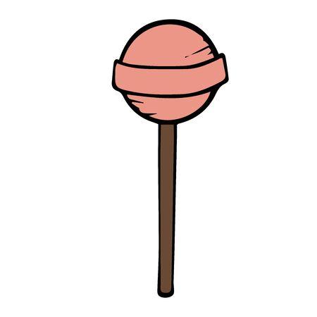 lollipop doodle sketch on a white background Illusztráció