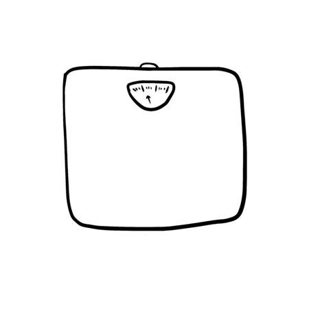 scales doodle illustration on white backround