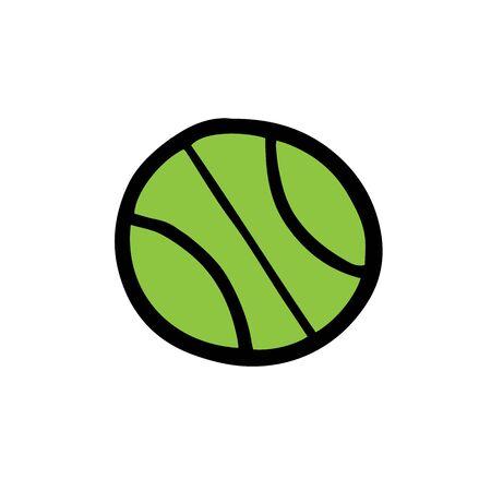 Light green tennis ball. Vector illustration