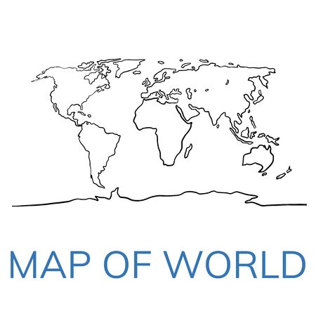 world map outline graphic sketch style, background vector of Asia Europe north south america and africa 일러스트