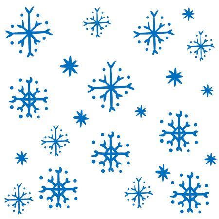 background of blue snowflakes, winter illustration 向量圖像