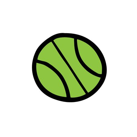Light green tennis ball. Vector illustration