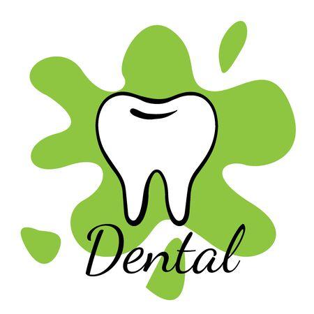 Doodle sketch teeth on a white background, cartoon drawing dental 向量圖像