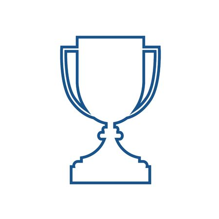 Simple flat illustration of a goblet. Icon, button for your website, mobile application on a white background. Stock Illustratie
