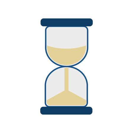 Simple flat illustration of an hourglass. Icon, button for your website, mobile application 向量圖像