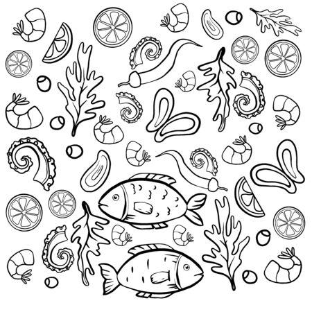 thai food octopus lime fish dish Stockfoto