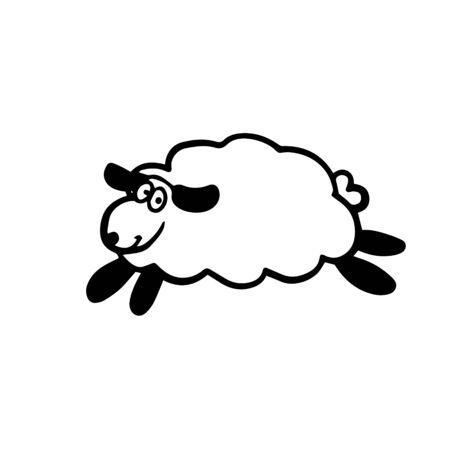 doodle sketch lamb. Simple, flat illustration