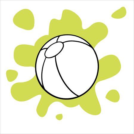 Doodles sketch ball illustration. Simple flat illustration Stock Illustratie