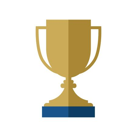 Simple flat illustration of a goblet. Icon, button for your website, mobile application